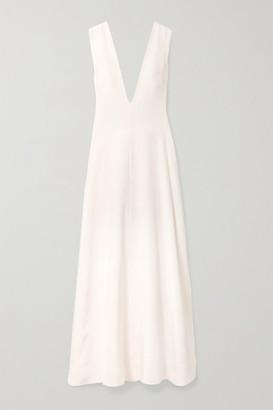 Michael Lo Sordo Silk-satin Maxi Dress