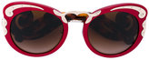 Prada embellished sounded sunglasses - women - Acetate/metal - 54
