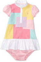 Ralph Lauren Girl Patchwork Polo Dress & Bloomer