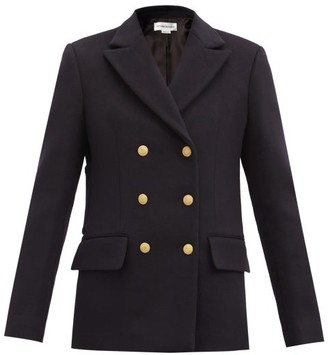 Victoria Beckham Double-breasted Wool-blend Pea Coat - Navy