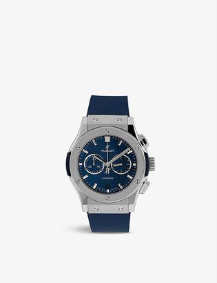 Hublot 541.NX.7170.LR Classic Fusion titanium and rubber automatic watch
