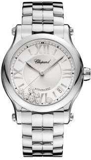 Chopard Happy Sport Diamond& Stainless Steel Bracelet Watch