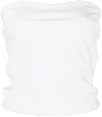 Le Petite Robe Di Chiara Boni Halima strapless slim-fit top