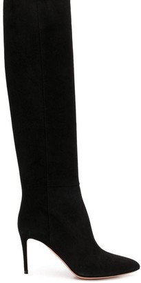 Aquazzura suede high heel boots