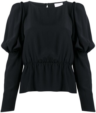 Merci Puff-Sleeve Blouse