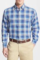 Robert Talbott 'Anderson' Classic Fit Plaid Linen Sport Shirt