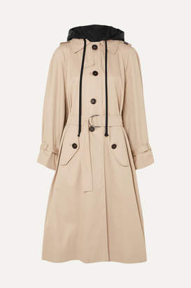 Miu Miu Oversized Cotton-poplin Trench Coat - Beige