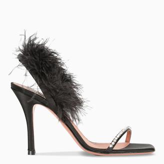 Amina Muaddi Black Adwoa crystal sandals