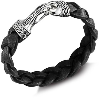 John Hardy Men's Sterling Silver Classic Chain & Braided Leather Cord Bracelet