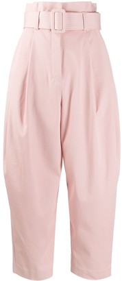 Zimmermann Belted High-Waisted Trousers