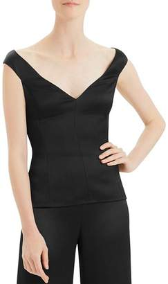 Theory Crepe Off-the-Shoulder Top