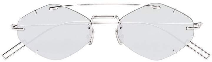 Christian Dior silver tone Inclusion geometric sunglasses