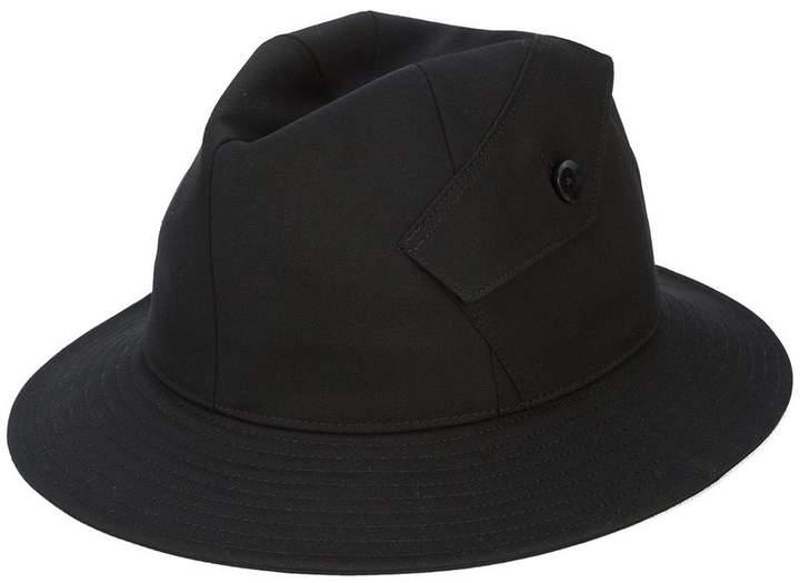 Yohji Yamamoto button side trilby hat