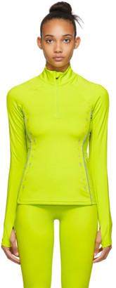 Reebok x Victoria Beckham Yellow VB Half-Zip Running Top