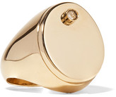 Maison Margiela Gold-tone Crystal Ring - medium