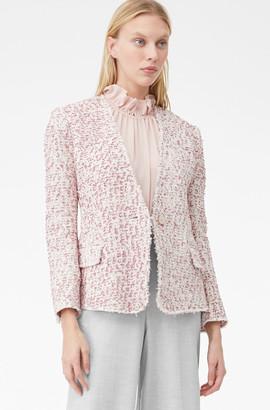 Rebecca Taylor Tailored Textured Tweed Jacket