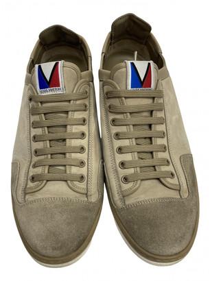 Louis Vuitton Beige Suede Trainers