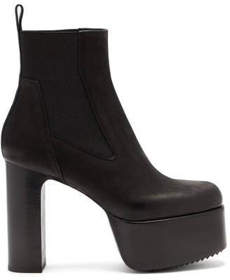 Rick Owens Kiss Grained-leather Platform Chelsea Boots - Black