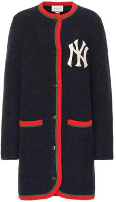 Gucci NY Yankees alpaca and wool cardigan