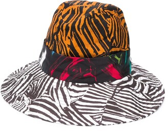 Missoni Colour Block Zebra Fedora Hat