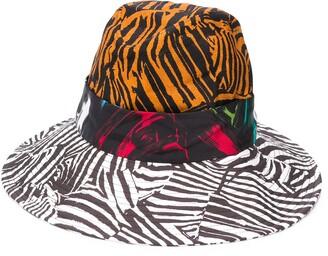 Missoni Colour Block Zebra Fedora