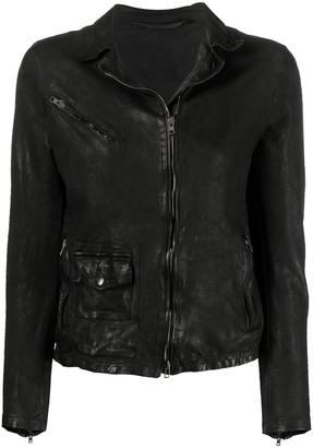 Salvatore Santoro Leather Zipped Jacket