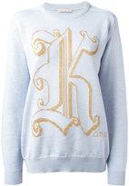 Christopher Kane Kane sweater - women - Viscose/Virgin Wool/Metallic Fibre - M