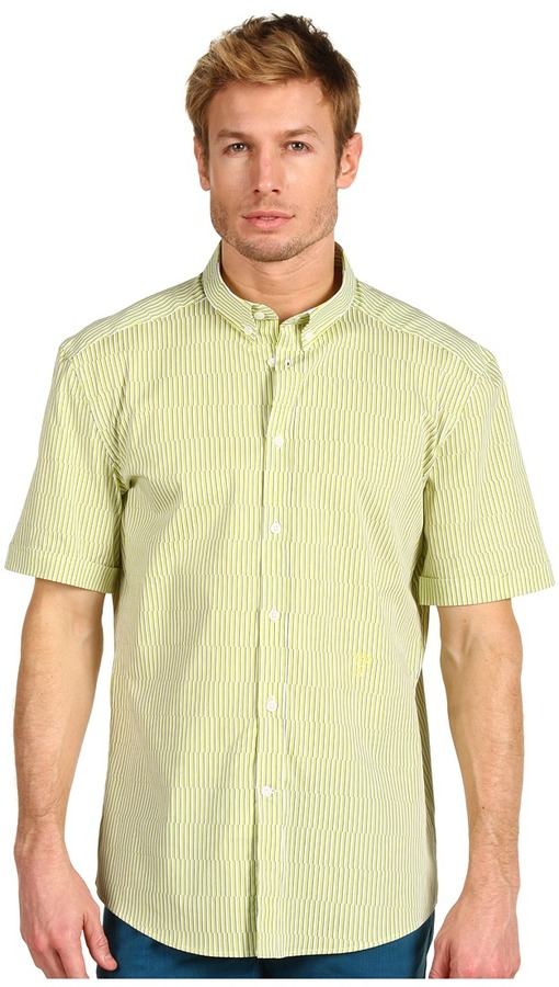 Versace Trend Fit Short Sleeve Button Down