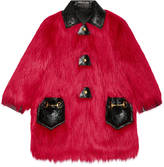 Gucci Faux Kidassia fur coat