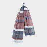 Paul Smith Women's Textured Stripe Colour Block Cotton Scarf