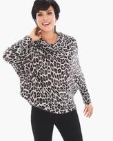 Chico's Snowleopard Cowl-Neck Pullover
