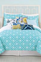 Trina Turk Trellis Twin/Twin XL Duvet & Sham 2-Piece Set - Turquoise/White
