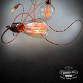 Unique's Co. Three Way Copper Lighting Art Piece