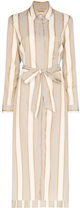 Odyssee belted striped shirt dress