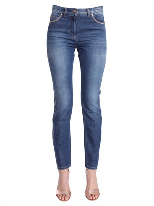 Versace Low Waist Skinny Fit Jeans
