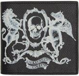 Alexander McQueen Black Coat of Arms Bifold Wallet