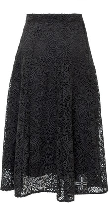 MICHAEL Michael Kors Lace A-Line Midi Skirt