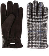 Lardini plaid fitted gloves