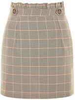 Topshop Heritage Check Frill Mini Skirt