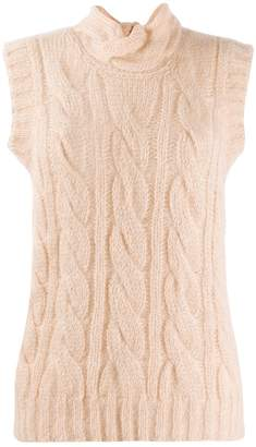Prada cable knit vest