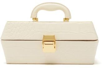 STAUD Lincoln Crocodile-effect Leather Box Bag - Womens - Cream