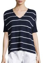 Eileen Fisher Organic Linen and Organic Cotton Striped Tee