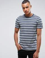 Abercrombie & Fitch Stripe T-Shirt Muscle Slim Fit In Navy/Grey