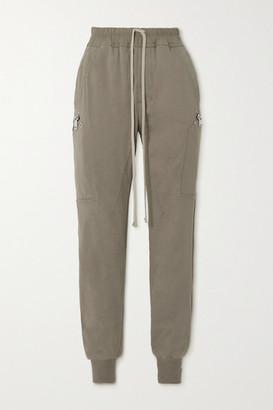 Rick Owens Stretch-cotton Jersey Track Pants - Light gray