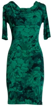 Connected Printed Sheath Dress