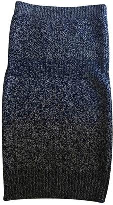 Burberry Navy Wool Skirt for Women