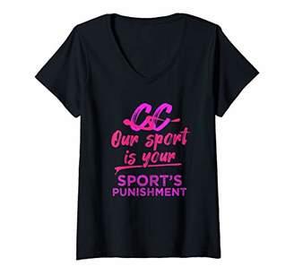 Womens Cross Country Gift Runners Your Sports Punishment Running V-Neck T-Shirt