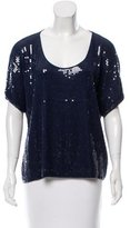 Robert Rodriguez Sequin-Accented Knit Top