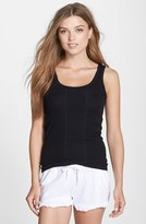 DKNY Women's Scoop Neck Pima Cotton Jersey Tank