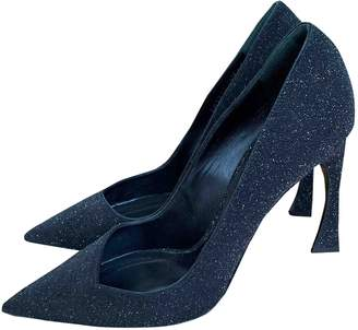 Christian Dior D-Stiletto Black Glitter Heels